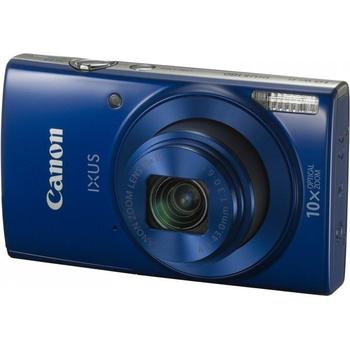 "CANON IXUS 180, 1091C001AA, modrý (blue), digitální fotoaparát, 20 Mpx, optický zoom 10x, dig. zoom 4x, optický stabilizátor, pro SD/SDHC/SDXC, LiON, Wi-Fi, NFC, 2,7"", HD Video"