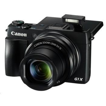 "CANON PowerShot G1X Mark II, 9167B011, černý (black), digitální fotoaparát, 12,8Mpx, optický zoom 5x, dig. zoom 4x, optický stabilizátor, pro SD/SDHC/SDXC, LiON, Wi-Fi, GPS, NFC, 3"", FullHD Video"