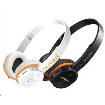 CREATIVE Outlier, 51EF0690AA004, bílá (white), bezdrátová sluchátka s MP3 přehrávačem, ovládání hlasitosti, bluetooth, jack 3,5mm, headset, microSD, sportovní, NFC