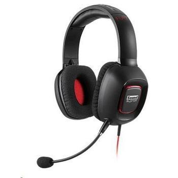 CREATIVE Tactic 3D Fury, 70GH024000001, herní sluchátka se zvukovou kartou, ovládání hlasitosti, odnímatelný mikrofon, jack 3,5mm, s mikrofonem, USB
