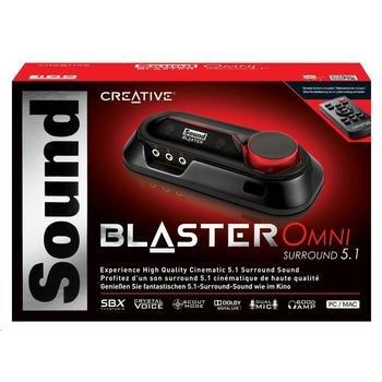 CREATIVE Sound Blaster OMNI SURROUND 5.1, 70SB156000002, externí zvuková karta, USB, SBX pro studio