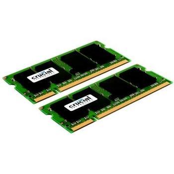 CRUCIAL SO-DIMM 4GB (2x2GB) DDR2 667MHz, CT2KIT25664AC667, paměť do notebooku, CL5, 1,8V