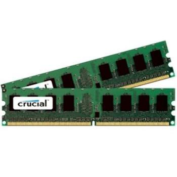CRUCIAL DIMM 4GB (2x2GB) DDR2 667MHz, CT2KIT25664AA667, 2 paměťové moduly, CL5, 1,8V