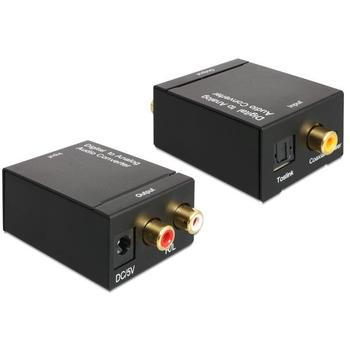 DELOCK audio adaptér digitál na analog, 62444, toslink/koaxiál na cinch (2x RCA)