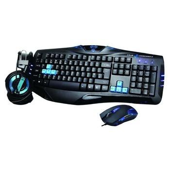 E-BLUE Sada Cobra, EKM800BLCZ-IU, černo-modrá, herní sada klávesnice, myši a sluchátek, USB, EN