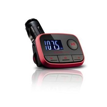 ENERGY SISTEM Car MP3 f2, 391233, černo-červená, bezdrátový FM vysílač do auta
