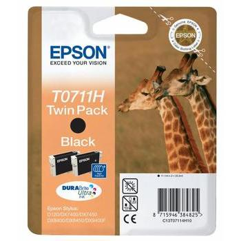 EPSON C13T07114H10, C13T07114H10, černá (black), 22,2ml, inkoustová náplň, pro Stylus D78, DX4000, DX5000, DX6000, DX7000F