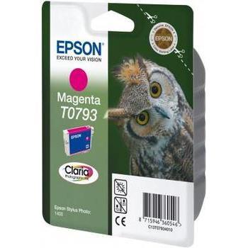 EPSON C13T07934010, C13T07934010, purpurová (magenta), 11ml, inkoustová náplň pro Stylus Photo 1400, PX700W, PX800FW