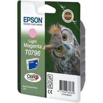 EPSON C13T07964010, C13T07964010, světle purpurová (light magenta), 11ml, inkoustová náplň pro Stylus Photo 1400, PX700W, PX800FW