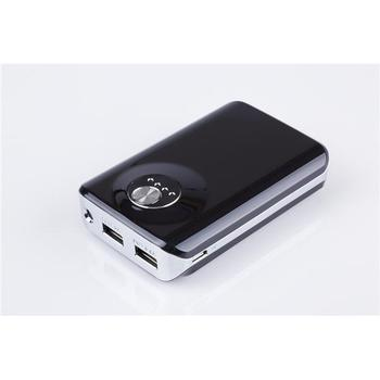EUROCASE Power Bank 6000, , černo-stříbrný (black/silver), nabíječka akumulátorů, 6000mAh