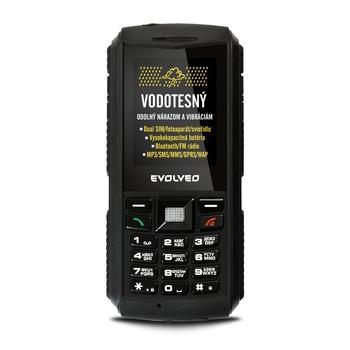 """EVOLVEO StrongPhone X1, SGP-X1, černý (black), odolný mobilní telefon, 2,2"""", 240x320, microSD, GPRS, Foto 2Mpx, BT, Dual SIM"""