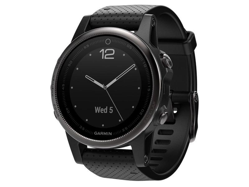 3f8441260 GARMIN GPS chytré hodinky fenix5S Sapphire Gray Optic, Black band