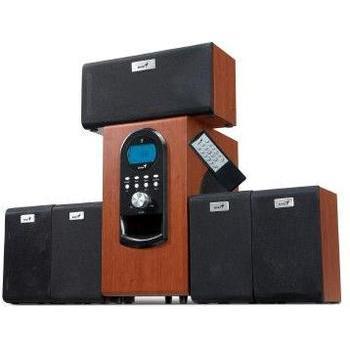 GENIUS SW-HF5.1 6000 HT, 31730022101, dark wood, reproduktory, 5.1ch zvuk, dřevo, 200W, výstup na sluchátka, jack 3,5mm, DO, cinch