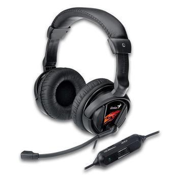 GENIUS HS-G500V Gaming, 31710020101, sluchátka, ovládání hlasitosti, s mikrofonem, 2x jack 3,5mm, vibrační, 32 Ohm