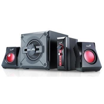 GENIUS SW-G2.1 1250, 31730980100, černé (black), reproduktory, 2.1ch zvuk, dřevo+plast, 18W, výstup na sluchátka, jack 3,5mm