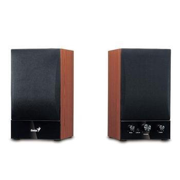 GENIUS SP-HF 1250B, 31731022100, černo-hnědá, reproduktory, 2.0ch zvuk, dřevo, 40W, jack 3,5mm