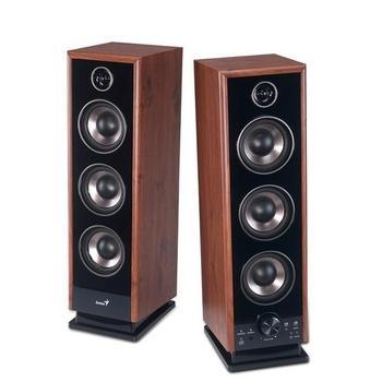 GENIUS SP-HF 2020 V2, 31731043100, černo-hnědá, reproduktory, 2.0ch zvuk, dřevo, 60W, jack 3,5mm, DO