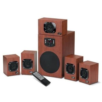 GENIUS SW-HF 5.1 4600, 31731028100, reproduktory, 5.1ch zvuk, dřevo, 120W, jack 3,5mm