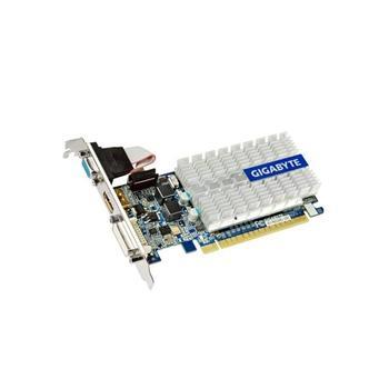 GIGABYTE N210SL-1GI, GV-N210SL-1GI, grafická karta, GeForce GT 210, 1GB, PCIe 2.0, 15pin D-sub, DVI, HDMI, pasivní chladič