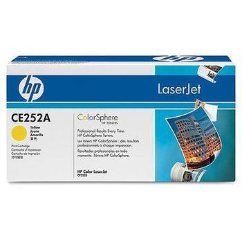 HP CE252A, CE252A, žlutý (yellow), toner, pro Color LaserJet CP3520, CP3525dn, CP3525n, CP3525x