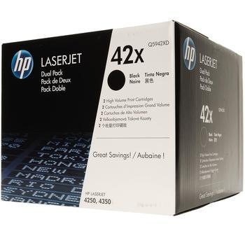 HP Q5942XD (č.42X) Dual Pack, Q5942XD, černý (black), toner LaserJet 4250 Serie / 4350 Serie