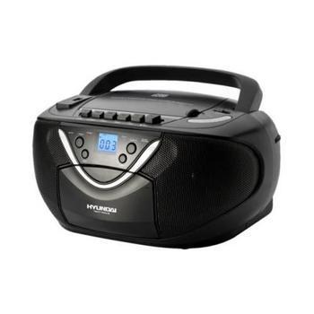 HYUNDAI TRC 718 AU3, , černý (black), radiomagnetofon, CD, MP3, AM/FM rádio, kazetová mechanika, USB