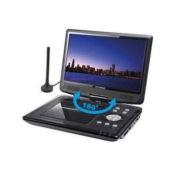 HYUNDAI PDP 10809 DVB-T, , černý (black), přenosný DVD přehrávač, DVD, DivX, MP3, JPEG, čtečka pam. karet, DVB-T Tuner, DO