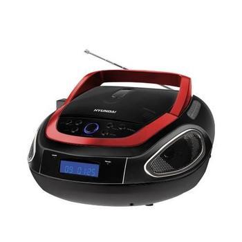 HYUNDAI TRC 512 AU3R, , černá/červená (black/red), radiomagnetofon, CD, MP3, AM/FM rádio, USB, možnost napájení na baterie