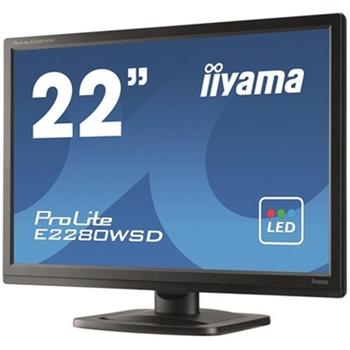 """iiYAMA E2280WSD-B, E2280WSD-B, černý (black), 22"""" LCD monitor, 16:10, TN, 5.000.000:1, 5ms, 250cd/m2, 1680x1050, LED, D-SUB, DVI, repro, Pivot"""
