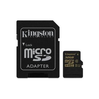 KINGSTON microSDHC UHS-I 32GB, SDCA10/32GB, paměťová karta, Class 10, včetně SD adaptéru