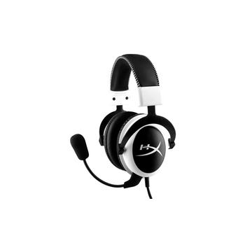 KINGSTON HyperX Cloud, , bílo-černá(white-black), sluchátka, odnímatelný mikrofon, s mikrofonem, 2x jack 3,5mm