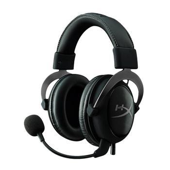 KINGSTON HyperX Cloud II, KHX-HSCP-GM, černá (black), sluchátka, ovládání hlasitosti, jack 3,5mm, s mikrofonem, USB, 60 Ohm