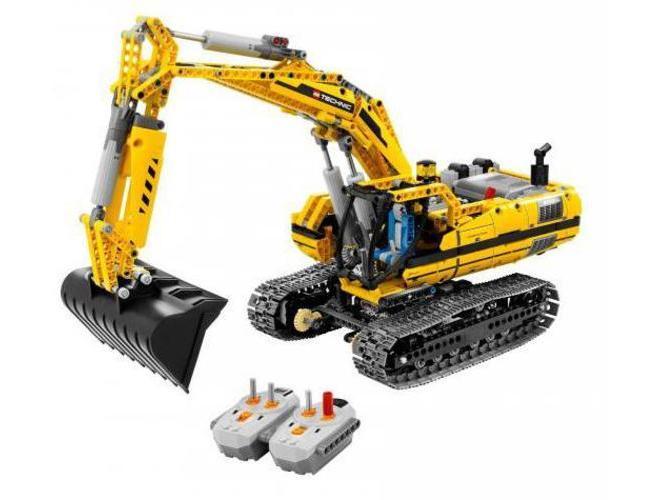 lego technic bagr s motorem 8043. Black Bedroom Furniture Sets. Home Design Ideas