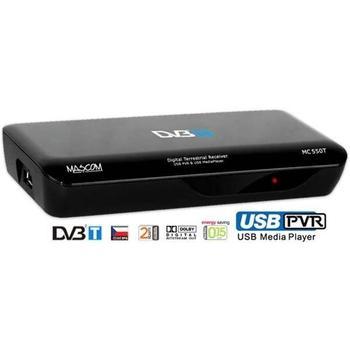 MASCOM MC550T USBPVR, , černý (black), DVB-T set-top box pro TV, 2x SCART