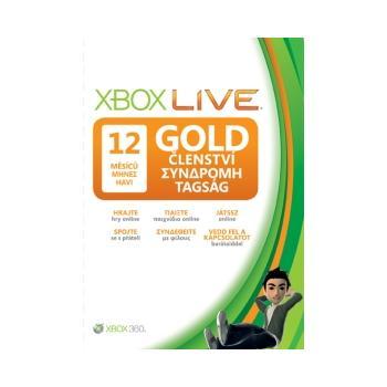 Microsoft Xbox 360 LIVE Gold karta 12 měsíců, 52M-00103