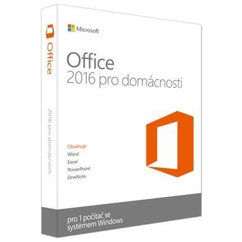MICROSOFT Office 2016 pro domácnosti CZ, 79G-04339, kancelářský software, pro studenty a domácnosti - nekomerční použití, česká lokalizace, bez média - pouze licence
