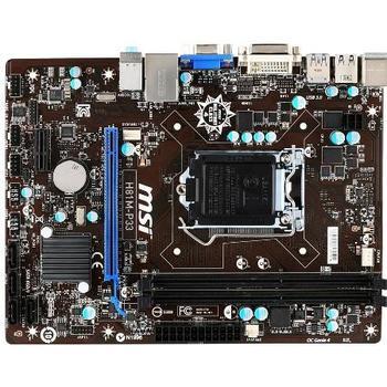 MSI H81M-P33, H81M-P33, základní deska, socket 1150, Intel H81, DualCH. DDR3, PCIe 2.0, RAID, GLAN, 4xUSB 2.0, 2xUSB 3.0, 8ch audio, mATX