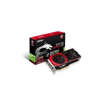 MSI GTX 960 GAMING 4G, GTX 960 GAMING 4G, grafická karta, GeForce GTX 960, 4GB, DDR5, PCIe 3.0, DVI, HDMI, NVIDIA CUDA