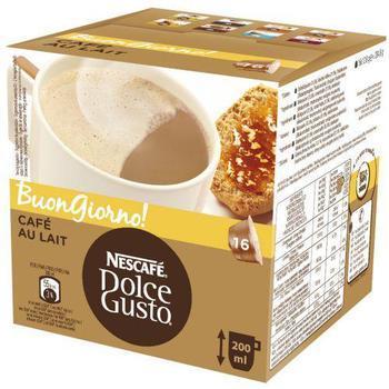 NESCAFE DOLCE GUSTO Cafe AuLait, 12125030, kávová kapsle, 16 kapslí