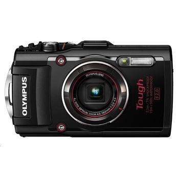 """OLYMPUS TG-4 kompakt, V104160BE000, černý (black), digitální fotoaparát, 16Mpx, optický zoom 4x, dig. zoom 8x, digitální stabilizátor, 36 MB int. paměti, pro SD/SDHC/SDXC, LiON, Wi-Fi, GPS, 3"""", FullHD Video, HDM"""