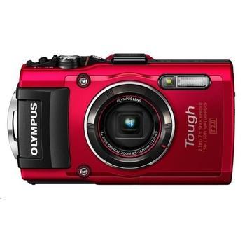 """OLYMPUS TG-4 kompakt, V104160RE000, červený (red), digitální fotoaparát, 16Mpx, optický zoom 4x, dig. zoom 8x, digitální stabilizátor, 36 MB int. paměti, pro SD/SDHC/SDXC, LiON, Wi-Fi, GPS, 3"""", FullHD Video, HDM"""