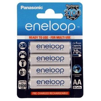 PANASONIC Eneloop AA 4ks 3MCCE/4BE, BK-3MCCE-4BE, akumulátory, AA, tužkové 1900mAh, 1,2V