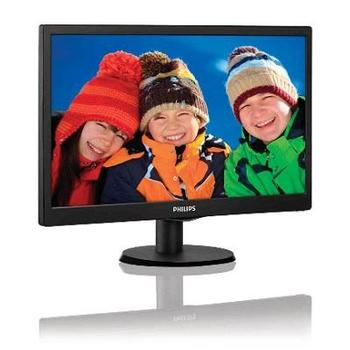 "PHILIPS 193V5LSB2, 193V5LSB2/10, černá (black), 18"" LCD monitor, 16:9, TFT LCD, 700:1, 5ms, 200cd/m2, 1366x768, LED, D-SUB"