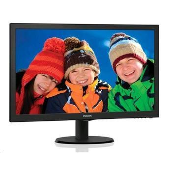 "PHILIPS 243V5LSB, 243V5LSB/00, černý (black), 23,6"" LCD monitor, 16:9, TN LED, 10.000.000:1, 5ms, 250cd/m2, 1920x1080, LED, D-SUB, DVI"