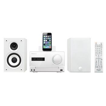 PIONEER X-CM42BT-W, X-CM42BT-W, bílý (white), mikrosystém s dockem, CD, MP3, FM rádio, USB