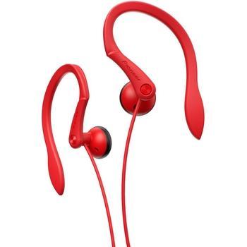 PIONEER SE-E511-R, SE-E511-R, červená (red), sluchátka, jack 3,5mm, sportovní, špunty, 32 Ohm