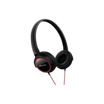 PIONEER SE-MJ512-R, SE-MJ512-R, černo-červená, sluchátka, jack 3,5mm, 32 Ohm