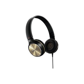 PIONEER SE-MJ532-N, SE-MJ532-N, černo-zlatá, sluchátka, jack 3,5mm, 32 Ohm
