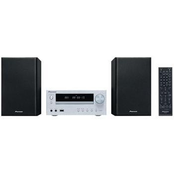PIONEER X-HM15-S, X-HM15-S, stříbrný (silver), mikrosystém, CD, MP3, AM/FM rádio, USB