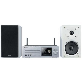 PIONEER X-HM72-S, X-HM72-S, stříbrný (silver), mikrosystém, CD, MP3, AM/FM rádio, USB